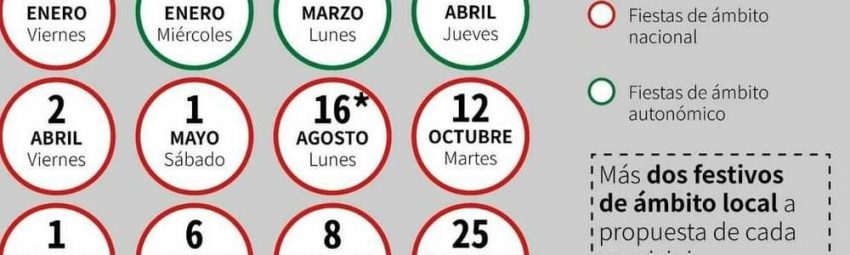 Public Holidays in Andalucia 2021