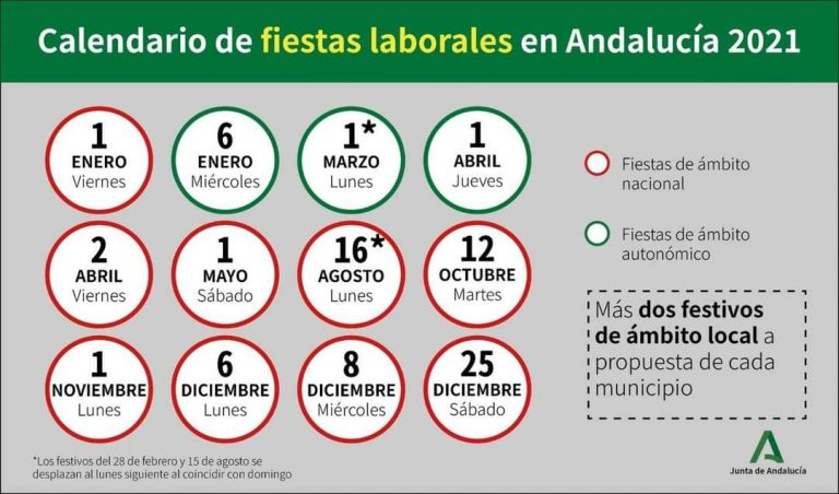 Public Holidays Andalucia