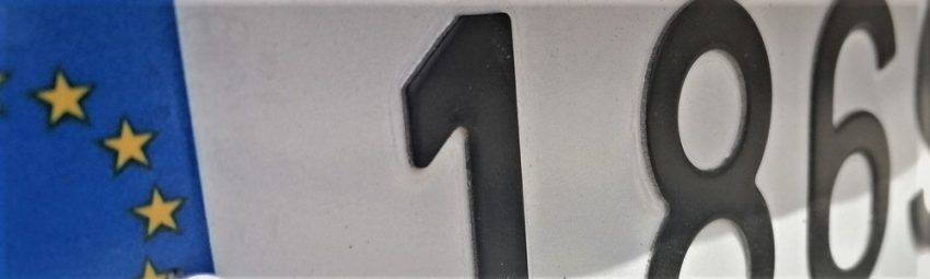 spanish number plate